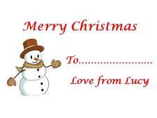 63 Personalizado Regalo De Navidad pegatinas Snow Man 3 Para 2 Etiquetas Fiesta De Navidad