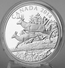 2014 $20 White-Tailed Deer – Mates, 1 oz. Pure Silver Proof Coin, #3 in Series