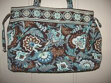 Vera Bradley Tie Tote Java Blue Shoulder Bag Purse 10 x 14 x 5 EUC