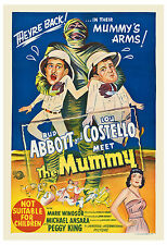 Horror Comedy:* Abbott & Costello Meet Meet The Mummy * Movie Poster 1956