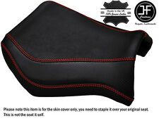 GRIP CARBON BRIGHT RED STITCH CUSTOM FITS YAMAHA MT 03 06-14 FRONT SEAT COVER