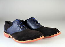 NEW Cole Haan Franklin Saddle II Saddle Dress Shoes Brown Navy Oxfords 10.5 M