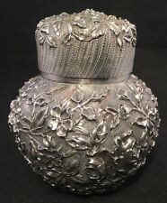 Outstanding Kirk Repousse Sterling Silver Tea caddy #188 Unusual Bulbous Form
