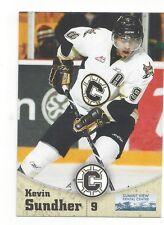 2010-11 Chilliwack Bruins (WHL) Kevin Sundher