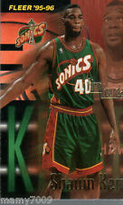 CARD N°415 BASKET=SHAWN KEMP (SEATTLE SONICS)=NBA 95/96 FLEER=CM 8,9X6,4