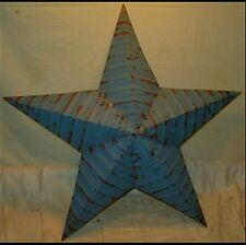 Rustic Genuine Amish Quality Primitive 22 inch Barn Star USA Hand Made BLUE