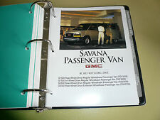 2005 GMC Savana Passanger Van Product Portfolio Pages Facts