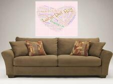 """LANA DEL REY MOSAIC TYPOGRAPHY BORDERLESS TILE 36"""" BY 32"""" INCH WALL POSTER RAY"""