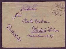Germany Military Mail 1917 WW1  Gaza Palestine via Aleppo to Berlin