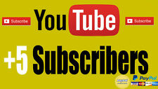5 Youtube Subs,views. Fast Delivery. + BONUS