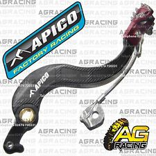 Apico Black Red Rear Brake Pedal Lever For Honda CRF 250X 2007 Motocross Enduro