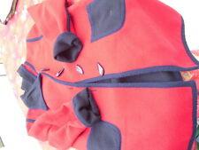 Jacke Mantel Duffelcoat Handarbeit Unikat Blau/rot Gr.40-42