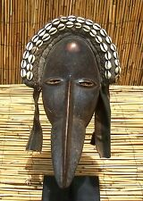 "African Dan Maou Bird Mask with Beak From Liberia 14"" Tall"