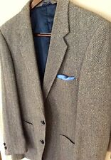 """Barrage""A Tan Tweed Herringbone Patch Pocket Sport Coat Linen & Wool Blend 42R"