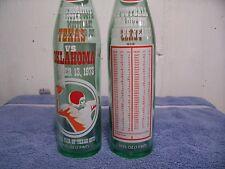 Dr  Pepper----Texas -Oklahoma--1973--Commemorative football bottle