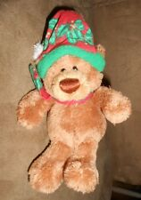 """Gund Twisty Top Poseable 5"""" Tall Teddy Bear in Holiday Christmas Ornament VGood"""