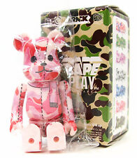 Medicom x A Bathing Ape BAPE PLAY SERIES 1 PINK CAMO 100% BE@RBRICK Bearbrick