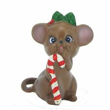 Josef Originals Mouse Figurine Vintage Christmas Candy Cane Girl Mice AS IS
