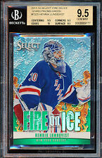 2013-14 SELECT FIRE ICE STARS PRIZMS GREEN HENRIK LUNDQVIST BGS 9.5 16/25 POP 1