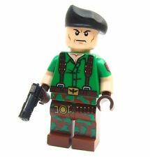 Lego GI Joe Custom - - - - -FLINT- - - - Snake eyes Army Soldier green beret