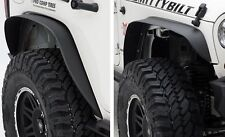 2007-2016 Jeep Wrangler & Unlimited XRC Metal Fender Flares Set of Four in Black