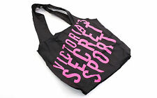 VICTORIA'S SECRET Tasche Fitness Bag Tote Bag Shopping Bag+Haargummi black pink
