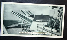 HMS RODNEY    Royal Navy Battleship  16 Inch Guns   Original Photo Card  VGC