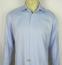 Mens Giampaolo dress shirt long sleeve button front Italy – Blue – Size 15.5 39