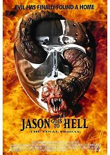 Friday the 13th Part 9 Jason Goes to Hell - A4 Laminated Mini Poster
