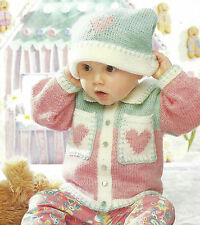 BABY JACKET & HAT AGE 6 MONTHS TO 7 YRS 18/26 KNITTING PATTERN     (18)