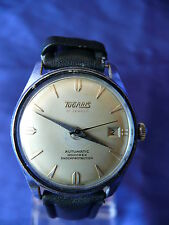 Rare Vintage Men's TUGARIS Swiss Automatic 21 Jewels Wrist Watch