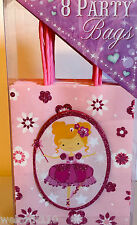 Punch Studio PINK BALERINA FAIRY PARTY GIFT BAGS.  GLITTERED!  GORGEOUS!