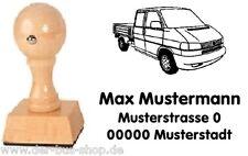 VW Bus T4 - Doka - Motiv-Holz-Stempel - mit Wunschtext