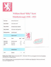 BILLY SCOTT MIDDLESBROUGH 1930-1931 VERY RARE ORIG HAND SIGNED CUTTING/CARD