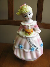 A Price Import JAPAN BIRTHDAY ANGEL Musical Blonde Revolving Figurine MINT
