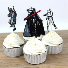 24pcs StarWars Cake Cupcake Topper kids birthday Theme party Decoration Standup