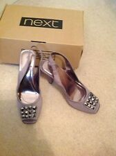 Beautiful ladies taupe next shoes size 4 new in box RRP £65 ( no 3 )