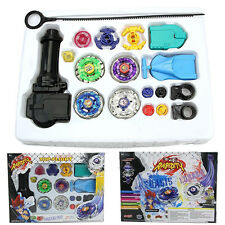 Top Fusion Metal Master Fight Rapidity Rare 4D Beyblade Launcher Set Games Toys