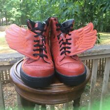 NEW US Size 9.5 Adidas Originals JS Jeremy Scott Red Wings S77803 B-BALL