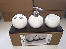 Bathroom Accessory Set (Radius) NEW*White Soap Dispenser Toothbrush *05%