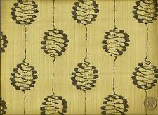 HBF Textiles Mid Century Modern Design Charcoal  Beige Upholstery Fabric