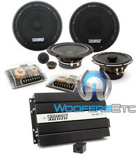 "pk3 SUNDOWN SA-6.5CX 6.5"" COAXIAL + SD-6.5CS COMPONENT + SAE-50.4 4-CH AMPLIFIER"