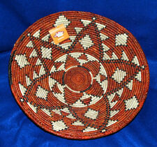 "Basket Finely Handwoven Collectible Decorative New Pakistan 14x3"" #84"