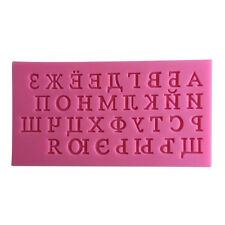 Russian Alphabet Cake Mold Silicone DIY Chocolate Cake Mould Kitchen Baking Tool