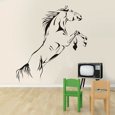 Sketch Horse Jumping Wall Art Stickers Vinyl Decal Home Mural Living Room Decor