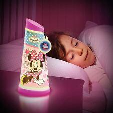 Minnie Mouse Go Brillo Luz de Noche Lámpara Antorcha De Inclinación Nuevo