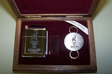 Zippo 1996 Atlanta Olympic Games Lighter/Keychain in Walnut Display Case - RARE
