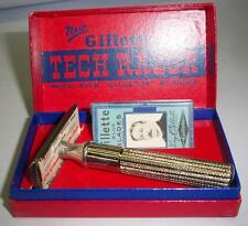 vintage 1932 Bulls Eye Target Canada Gillette silver Tech safety Razor box blade