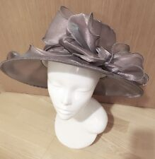 Silver Grey Huge Bow Ladies Formal Hat Hatinator Fascinator Ascot Races Wedding