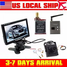 "7""TFT LCD Car Monitor+5.8G TS5828S FPV AV Transmitter+RC832 Receiver+Mini Camera"